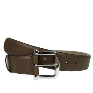 Gucci Silver Buckle Brown Leather Belt 281548